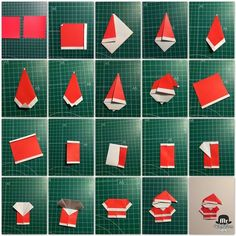 Head to the webpage to see more on Origami Paper Craft Origami And Kirigami, Geometric Origami, Paper Crafts Origami, Origami Design, Origami Stars, Origami Easy, Paper Crafting, Christmas Origami, Christmas Crafts For Kids