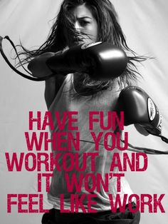 Have fun when you workout! This is a MUST for me. I will not sit on a bike or rock away on a elliptical machine when I could be enjoying myself!