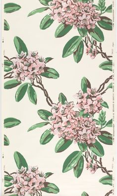 Wallpaper: Rhododendron. Designed by Dorothy Draper, 1948. Cooper-Hewitt National Design Museum.