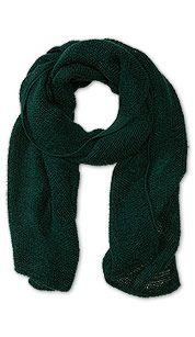 Geweven sjaal in donkergroen