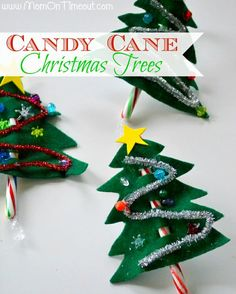 Candy Canes Christmas Tree Craft...these Are So Cute And Easy, Would Make Great Hand Outs For Office Or School!