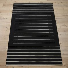 black with white stripe rug 250-500