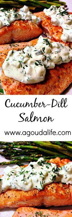 Cucumber Dill Salmon - stove to table in UNDER 30 minutes ~ a light, low carb and keto healthy FRESH meal.