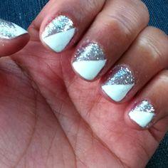 white and diagonal sparkles