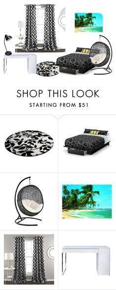 """""""My Dream Bedroom"""" by coffeeyolo173 on Polyvore featuring interior, interiors, interior design, home, home decor, interior decorating, South Shore, Lush Décor, TemaHome and bedroom"""