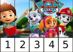 Puzzles de números de la Patrulla canina -Orientacion Andujar