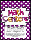 Math Centers Number Packet 2 product from Laniers-K-Lions on TeachersNotebook.com