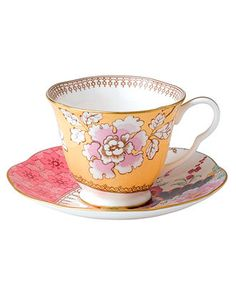 Paul Wolfe - I NEED THESE!!! Wedgwood Floral Bouquet Cup and Saucer - Fine China - Dining & Entertaining - Macy's