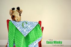 Sew a minki blanket with this easy to follow tutorial. #baby
