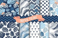 Tropical Leaves Seamless patterns by GraphicMarket on @creativemarket