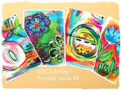 This listing is showing a pack of 4 prints of Ifelt Artsy Prints pack #2.  On each pack you will find 4 ( four ) prints from my original art.  This