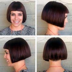 "Enzo & Anna's Hair World: Enzo""s Picks October Blunt Bob With Bangs, Bob Haircut With Bangs, Bob Bangs, Katie Holmes, Hot Hair Styles, Curly Hair Styles, Anna Hair, Short Bob Hairstyles, Bob Haircuts"