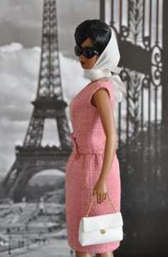 117-6.  Jackie Kennedy Day Rose Dress for Silkstone dolls by Natalia Sheppard, via Flickr