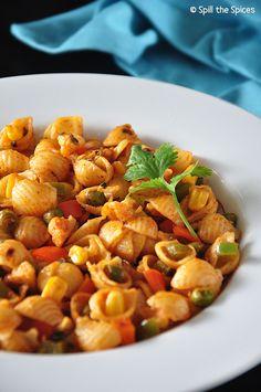 Indian Style Vegetable Masala Pasta