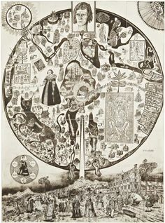 Grayson Perry, 'Map of Nowhere', 2008.    (Go back to the orig website to magnify parts of the map.)
