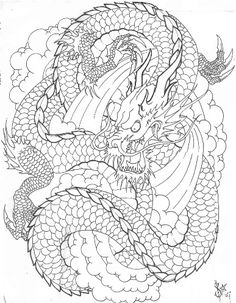 Japanese Dragon Tattoo Designs 5