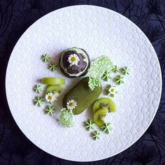 """5,513 Likes, 42 Comments - Gastro Art (@gastroart) on Instagram: """"Matcha bomb! Matcha mousse with coconut charcoal choux, matcha pastry cream, kiwifruit & tapioca…"""""""
