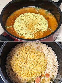 그릇까지 싹싹 핥는다는 '마약 라면 요리' 레시피 6가지 Spagetti Pizza, Korean Food, Food Menu, Kimchi, Food Plating, Recipe Collection, Food To Make, Macaroni And Cheese, Noodles