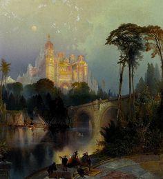 Thomas Moran - Fantastic Landscape