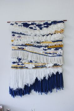 Items similar to Large Handmade Woven Tapestry on Etsy Weaving Wall Hanging, Weaving Art, Tapestry Weaving, Loom Weaving, Wall Tapestry, Hand Weaving, Wall Hangings, Weaving Projects, Weaving