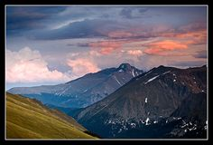 Longs View Sunset - Rocky Mountain National Park, Colorado