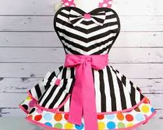 Image result for striped retro apron