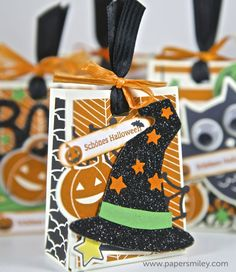 Halloween treat bags with the Howl-o-ween Treat set - Halloween Tütchen mit dem Howl-o-ween Treat set von Stampin' Up!