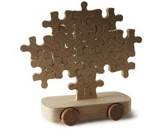 Journey of a Cedar by Marcel Wanders: Wooden jigsaw puzzle toy car! Wooden Toy Cars, Wood Toys, Wood Projects For Kids, Wooden Jigsaw Puzzles, Got Wood, Woodworking For Kids, Puzzle Toys, Classic Toys, New Toys