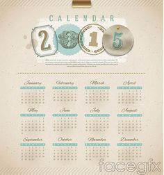15 Free 2015 Vector Calendar Design Templates