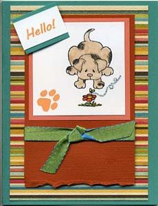 Hello! Card & DIY Directions from GreatImpressionsStamps.com