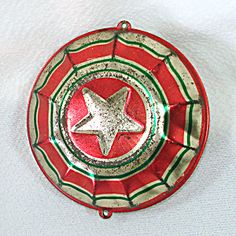 1930s Usa Tin Litho Patriotic Bunting Star Metal Christmas Ornament Antique Christmas Ornaments, Christmas Books, All Things Christmas, Christmas Decorations, Patriotic Bunting, Woodland Christmas, Selling Antiques, Christmas Inspiration, 1930s