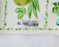 Handmade and vintage by SycamoreVintage on Etsy Printed Linen, Beach House Decor, Tea Towels, Parisian, Textile Design, Shabby Chic, Vintage Linen, Mid Century, Pure Products