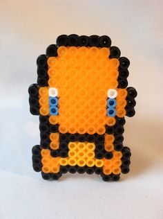 Pokemon Perler Bead Charmander Chibi by GeektasticCrafts on Etsy Perler Bead Designs, Pokemon Chart, Pokemon Charmander, Fuse Beads, Pearler Beads, Hama Beads Patterns, Beading Patterns, Pixel Art, Pokemon Perler Beads