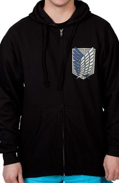 Very cool Attack On Titan Survey Corps Hoodie at 80sTees.com!
