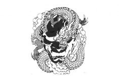 Japanese Dragon Head Tattoos Designs