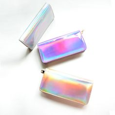 2015 Fashion PU Hologram Wallet Purse Laser Silver&Gold&Purple Make up Bag Women's Messenger Bag Mini Clutch Evening Handbag-in Wallets from Luggage & Bags on Aliexpress.com   Alibaba Group