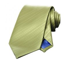 Cravate en microfibre vert kaki coupe classique