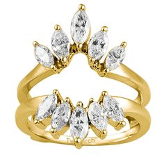 Gold Diamond Wedding Ring Enhancer by TwoBirch