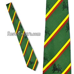 Lion of Judah Tie - Green