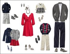 Cute coordinating outfits for family shoot Family Portraits What To Wear, Family Portrait Outfits, Family Picture Outfits, What To Wear Fall, How To Wear, Winter Family Photos, Holiday Photos, Family Pictures, Christmas Photos