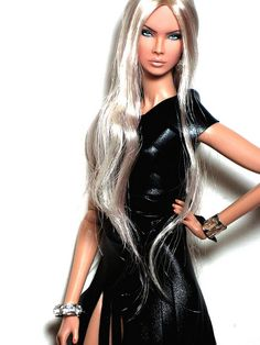 Fashion Royalty NuFace Eden OOAK repaint reroot Doll by Claudia