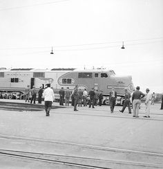 [Atchison, Topeka, & Santa Fe, Diesel Electric Passenger Locomotive No. 12, with Crowd]