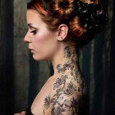 Floral, shoulder tattoo on TattooChief.com