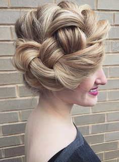 """People went crazy over this look! They thought it was a woven updo. Just a big ole' braid. Party Hairstyles, Vintage Hairstyles, Cool Hairstyles, Hairdos, Updos, Wedding Hairstyles, Medium Long Hair, Cool Braids, Festival Hair"