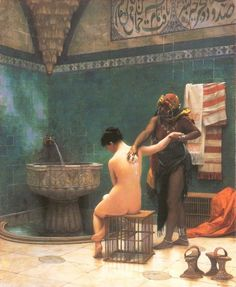 The Harem Bath - Jean-Leon Gerome - WikiPaintings.org @@@@......http://www.pinterest.com/louisect/1001-nuits/