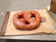 Pretzel Donut from The Coffee Bean & Tea Leaf, NYC.