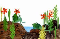 Leo Lionni frogs illustration