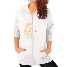 Story of the Tiger Zip Hoodie (on woman)