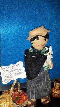 "Mi Linaje Mexicano doll making.  "" Ana Maria"". Maria Cristina Carreón."