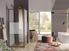 Rectangular shower cabin with hinged door ACRUX | Shower cabin with hinged door by Samo